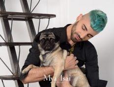 © MYA ISAÏ - Workshow Printemps Eté 2019 - Coupe coiffage coloration homme avec chien cheveux courts