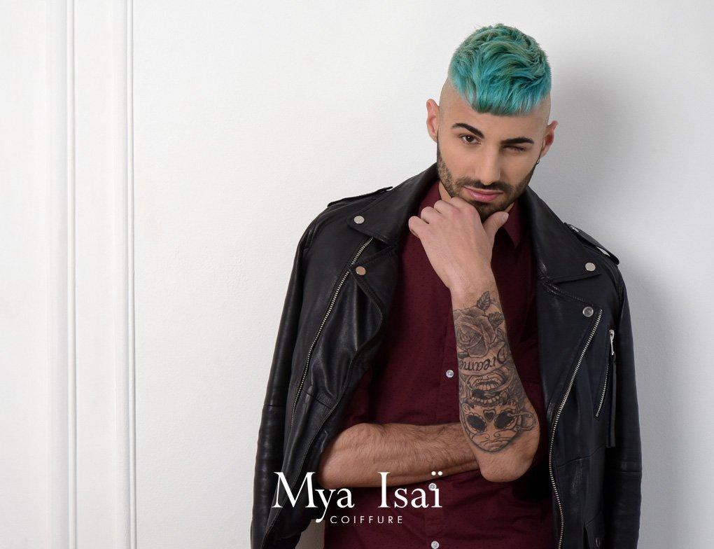 © MYA ISAÏ - Workshow Printemps Eté 2019 - Coupe coiffage coloration homme cheveux courts