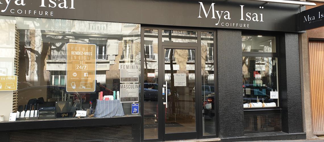 Salon de coiffure Paris 75019 Avenue Simon Bolivar Accueil Vitrine